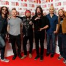 Foo Fighters, winner of the Best International Group award, is seen in the winners room during The BRIT Awards 2018 held at The O2 Arena on February 21, 2018 in London, England