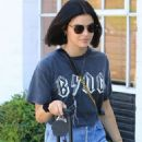 Lucy Hale in Denim Mini Slirt – Out in Beverly Hills