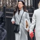 Lea Michele with her mother out in New York City