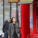 Olga Kurylenko Filming The Correspondence Set In Edinburgh