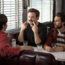 (L-r) JUSTIN LONG as Garrett, JASON SUDEIKIS as Box and CHARLIE DAY as Dan in New Line Cinema's romantic comedy 'GOING THE DISTANCE,' a Warner Bros. Pictures release. Photo by Jessica Miglio
