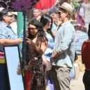 Vanessa Hudgens and her boyfriend, Austin Butler, took in the final weekend of the Renaissance Fair in Irwindale, CA yesterday, May 20