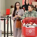 Demi Moore – Shopping for a cart full of toys at Target in LA