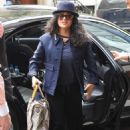 Salma Hayek – Arrives at her hotel in New York