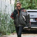 Hailey Baldwin – Heads to a photoshoot in Hollywood