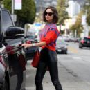 Olivia Culpo– Leaves the Hair Salon in West Hollywood 03/09/2019