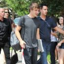 Liam Payne was spotted leaving their hotel today, July 1, in Sunrise, Fl en route to the BankAtlantic Center where they are set to perform tonight