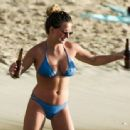 Zara Holland – Bikini Candids at A Beach In Barbados - 454 x 337