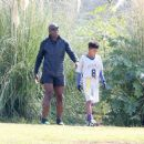 Seal spotted out in Los Angeles watching his kids flag football game Saturday October 15, 2016 - 454 x 372