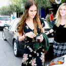 Isabel Lucas Leaving The Little Next Door Restaurant