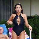 Sophie Kasaei in Black Swimsuit on holiday in Tenerife - 454 x 545