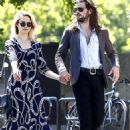 Dianna Agron & Sons singer Winston Marshall spotted out for a stroll in Paris on Monday, July 6,2015
