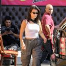 Kourtney Kardashian at Carousel restaurant in Los Angeles