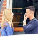 Scarlett Johansson and Joseph Gordon-Levitt on the set of 'Don Jon's Addiction' in New Jersey (June 27)