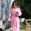 "Rachel Bilson wears a revealing retro outfit while filming her latest movie ""The To Do List."""