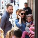 Jennifer Garner and Ben Affleck out with their daughters Seraphina and Violet in Pacific Palisades, CA (March 23)