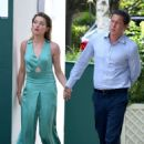 Amber Heard and Vito Schnabel – Arrives at Wimbledon in London