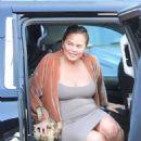 Chrissy Teigen – Arriving to a commercial set in LA - 454 x 662