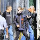 Corey Taylor of music band 'Slipknot' is seen arriving at 'Jimmy Kimmel Live' in Los Angeles, California - 450 x 600