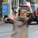 Annette Bening shoots a stunt scene where she pretends to get hit by a bus on the set of 'Life, Itself' in downtown Manhattan, New York on March 25, 2017 - 424 x 600