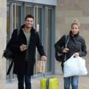 Gemma Atkinson and Aljaz Skorjanec – Arriving for dance rehearsals at a studio in Manchester - 454 x 616