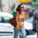 Katie Holmes – Spotted in jeans as she stepped out in New York