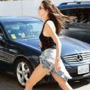 Model Alessandra Ambrosio shopping at the Apple Store in Santa Monica, California on September 26, 2014