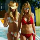 Tara Reid - Candids In Red Bikini