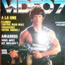Sylvester Stallone - Video 7 Magazine Cover [France] (October 1985)