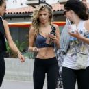 AnnaLynne McCord in Tights and Sports Bra out in Malibu - 454 x 711