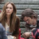 Katharine Mcphee on 'The Lost Wife Of Robert Durst' set in Vancouver - 454 x 303
