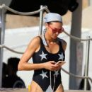 Lilly Becker – Bikini candids at a holiday in Sardinia – Italy - 454 x 681