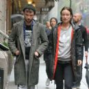 Olivia Wilde and Tom Sturridge Arrive at the Hudson Theatre in NY - 454 x 454