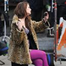 Mischa Barton On The Set Of