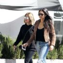 Ashley Benson and Shay Mitchell having lunch at Olive and Thyme in LA