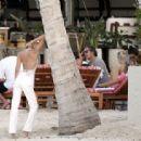 Bella Hadid – wearing white in St. Barts