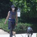 Courtney Thorne-Smith – Takes her pups out for a walk in Palisades - 454 x 555