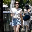 Emma Roberts in Shorts – Out in Los Feliz