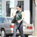 Vanessa Hudgens in flared trousers out in Los Angeles