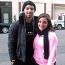 Joe Jonas posed with a fan in NYC