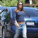 Mila Kunis: walking around the set of 'Blood Ties' in Brooklyn