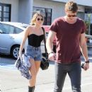Miley Cyrus enjoyed the afternoon out with her boyfriend, Liam Hemsworth today, February 3