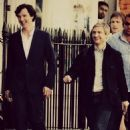 Benedict Cumberbatch and Martin Freeman Filming 'Sherlock' Series 3 (PICTURES) (2013)