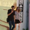 19 YEAR-OLD ELIZABETH JAGGER AND HER NEW BOYFRIEND, 43 YEAR-OLD ACTOR MICHAEL WINCOTT SHOPPING ON TRENDY MELROSE AVENUE, WEST HOLLYWOOD, CA