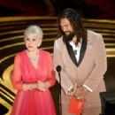 Helen Mirren and Jason Momoa At The 91st Annual Academy Awards - Show - 454 x 309