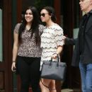 Demi Lovato In Shorts Leaving The Greenwich Hotel In Tribeca