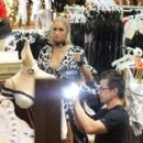 Paris Hilton – Shopping at the 'Trashy Lingerie' Store for Halloween costumes in LA