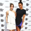 Models Barbara Palvin (L) and Megan Gale pose at the L'Oreal Paris Luncheon on day one of L'Oreal Melbourne Fashion Festival on March 18, 2013 in Melbourne, Australia