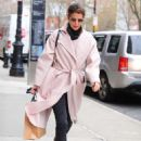 Cobie Smulders in Pinh Coat – Shopping in NYC - 454 x 639