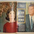 John F. Kennedy - Fatos E Fotos (fatosefotos) Magazine Pictorial [Brazil] (7 December 1963) - 454 x 339